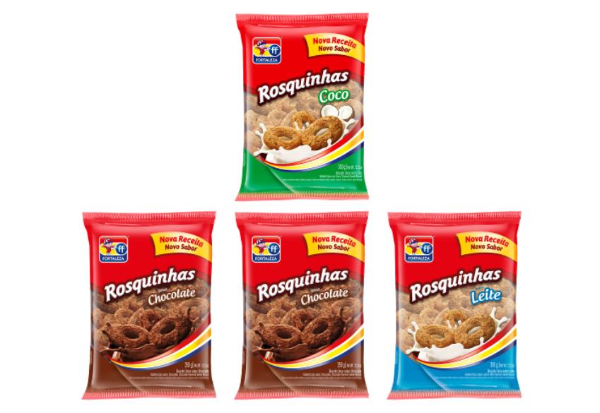 Rosquinhas Fortaleza ganham novo formato, novas receitas e novas embalagens