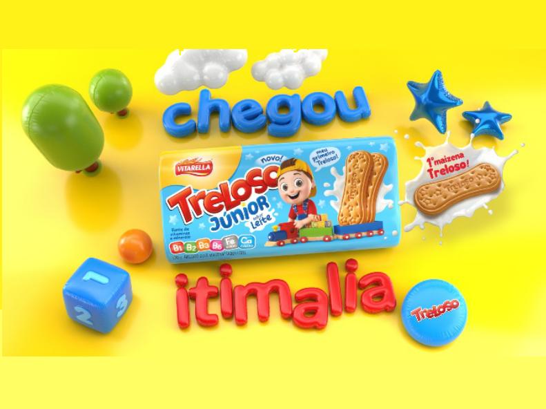 Treloso lança 'Treloso Júnior', único biscoito maizena infantil do mercado
