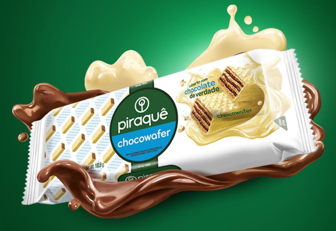 Piraquê apresenta versão Chocolate Branco do Chocowafer