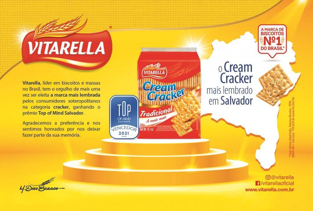 Vitarella conquista o prêmio Top of Mind Salvador